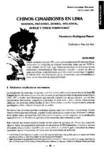 Chinos cimarrones en Lima: rostros, facciones, edades, apelativos, ropaje y otros pormenores