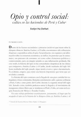 Opio y control social: culíes en las haciendas de Perú y Cuba<br /><br />