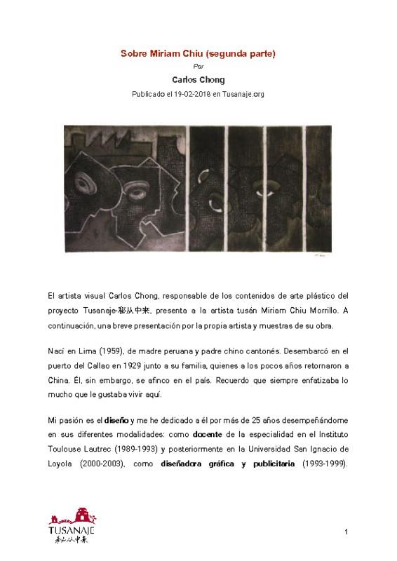 Sobre Miriam Chiu (segunda parte)